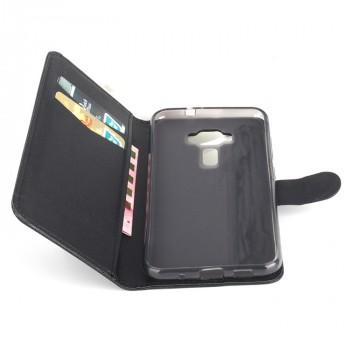 Чехол портмоне подставка на силиконовой основе на магнитной защелке для Asus ZenFone 3 Deluxe