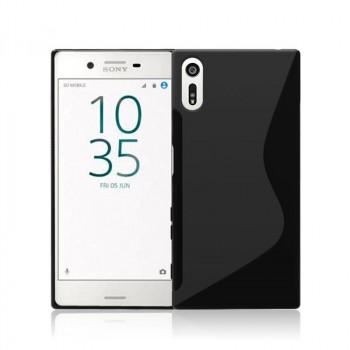 Силиконовый матовый полупрозрачный чехол с нескользящими гранями и дизайнерской текстурой S для Sony Xperia XZ