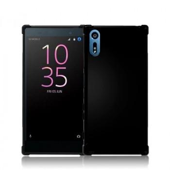 Силиконовый глянцевый непрозрачный чехол с усиленными углами для Sony Xperia XZ