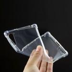 Силиконовый глянцевый транспарентный чехол с усиленными углами для Sony Xperia XZ