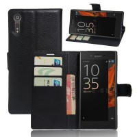 Чехол портмоне подставка на силиконовой основе на магнитной защелке для Sony Xperia XZ