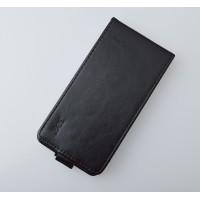 Чехол вертикальная книжка на пластиковой основе на магнитной защелке для Nokia Lumia 730/735  Черный