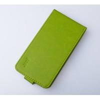 Чехол вертикальная книжка на пластиковой основе на магнитной защелке для Nokia Lumia 730/735  Зеленый