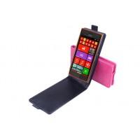 Чехол вертикальная книжка на силиконовой основе на магнитной защелке для Nokia Lumia 730/735