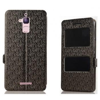 Чехол горизонтальная книжка подставка текстура Узоры на силиконовой основе с окном вызова и свайпом на магнитной защелке для Asus ZenFone 3 Max