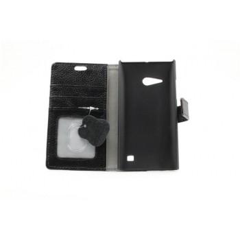 Кожаный чехол портмоне подставка на пластиковой основе на магнитной защелке для Nokia Lumia 730/735