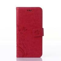 Чехол портмоне подставка на силиконовой основе на магнитной защелке для Nokia Lumia 730/735 Красный