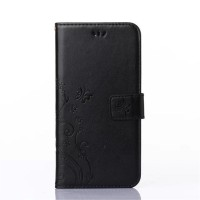 Чехол портмоне подставка на силиконовой основе на магнитной защелке для Nokia Lumia 730/735 Черный