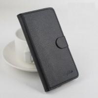Чехол портмоне подставка на силиконовой основе на магнитной защелке для ASUS Padfone S  Черный