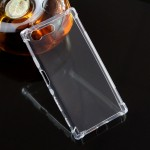 Силиконовый глянцевый транспарентный чехол с усиленными углами для Sony Xperia X Compact