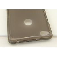 Силиконовый матовый полупрозрачный чехол для ZTE Nubia Z11  Серый