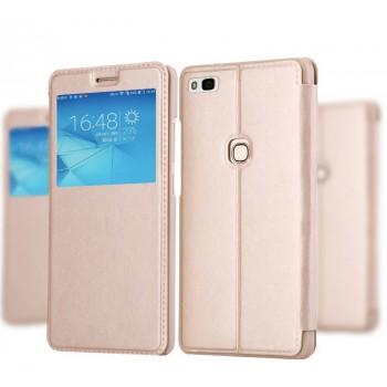 Чехол флип на пластиковой основе с окном вызова для Huawei P9 Lite