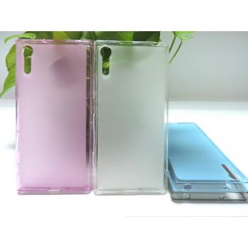 Силиконовый матовый полупрозрачный чехол для Sony Xperia XZ
