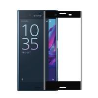 Ультратонкая износоустойчивая сколостойкая олеофобная защитная объемная стеклянная панель на плоскую и изогнутые поверхности экрана для Sony Xperia X Compact Черный