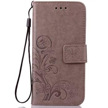 Чехол портмоне подставка текстура Узоры на силиконовой основе на магнитной защелке для Huawei P9 Lite