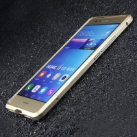Металлический округлый бампер сборного типа на винтах для Huawei P9 Lite
