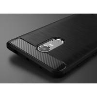 Силиконовый матовый непрозрачный чехол с текстурным покрытием Металлик для Xiaomi RedMi Note 4  Черный