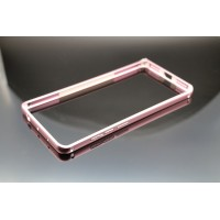 Металлический округлый бампер на пряжке для Xiaomi RedMi Note 4 Розовый