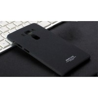 Пластиковый непрозрачный матовый чехол с повышенной шероховатостью для Asus ZenFone 3 5.5 Черный