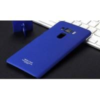 Пластиковый непрозрачный матовый чехол с повышенной шероховатостью для Asus ZenFone 3 5.5 Синий