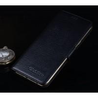 Кожаный чехол портмоне подставка (премиум нат. кожа) с крепежной застежкой для Asus ZenFone 3 5.5 Черный