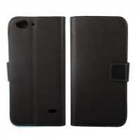 Чехол портмоне подставка на силиконовой основе на магнитной защелке для ZTE Blade S6