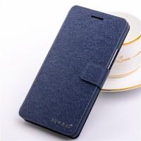 Чехол горизонтальная книжка подставка на пластиковой основе с отсеком для карт на магнитной защелке для Samsung Galaxy Win Синий