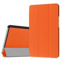 Сегментарный чехол книжка подставка на непрозрачной поликарбонатной основе для Huawei MediaPad M3 Оранжевый