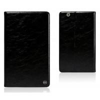 Вощеный чехол книжка подставка на полупрозрачной силиконовой основе для Huawei MediaPad M3 Черный