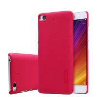 Пластиковый непрозрачный матовый нескользящий премиум чехол для Xiaomi Mi5S Красный