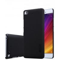 Пластиковый непрозрачный матовый нескользящий премиум чехол для Xiaomi Mi5S Черный