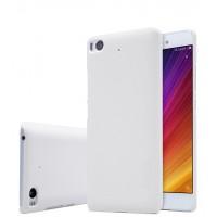 Пластиковый непрозрачный матовый нескользящий премиум чехол для Xiaomi Mi5S Белый