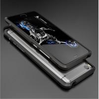 Металлический округлый бампер сборного типа на винтах для Xiaomi Mi5S Черный