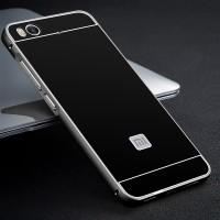 Двухкомпонентный чехол c металлическим бампером с поликарбонатной накладкой для Xiaomi Mi5S Черный