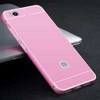 Двухкомпонентный чехол c металлическим бампером с поликарбонатной накладкой для Xiaomi Mi5S Розовый