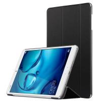 Сегментарный чехол книжка подставка на непрозрачной поликарбонатной основе для Huawei MediaPad M3 Черный