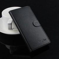 Чехол портмоне подставка на пластиковой основе на магнитной защелке для Lenovo P780  Черный
