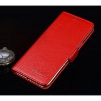 Кожаный чехол портмоне подставка (премиум нат. кожа) с крепежной застежкой для Asus ZenFone 3 Ultra  Красный