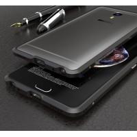 Металлический округлый бампер сборного типа на винтах для Meizu M3 Max  Черный