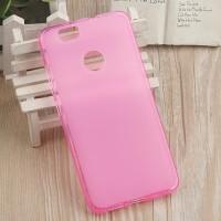 Силиконовый матовый полупрозрачный чехол для Huawei Nova Розовый