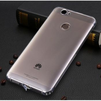 Силиконовый матовый полупрозрачный чехол с улучшенной защитой элементов корпуса (заглушки) для Huawei Nova