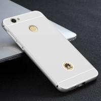 Двухкомпонентный чехол c металлическим бампером с поликарбонатной накладкой для Huawei Nova Белый