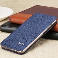 Чехол горизонтальная книжка подставка текстура Соты на силиконовой основе для Huawei Nova  Синий