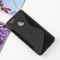 Силиконовый матовый полупрозрачный чехол с дизайнерской текстурой S для Huawei Nova  Черный