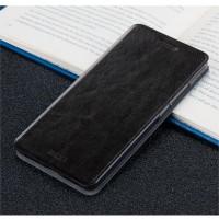 Глянцевый чехол горизонтальная книжка подставка на силиконовой основе для Huawei Nova  Черный