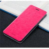 Глянцевый чехол горизонтальная книжка подставка на силиконовой основе для Huawei Nova  Розовый