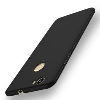 Пластиковый непрозрачный матовый чехол с защитой торцев для Huawei Nova Черный