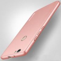 Пластиковый непрозрачный матовый чехол с повышенной шероховатостью для Huawei Nova  Розовый