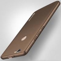 Пластиковый непрозрачный матовый чехол с повышенной шероховатостью для Huawei Nova  Коричневый