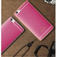 Силиконовый матовый непрозрачный чехол с текстурным покрытием Кожа для Meizu U20  Пурпурный